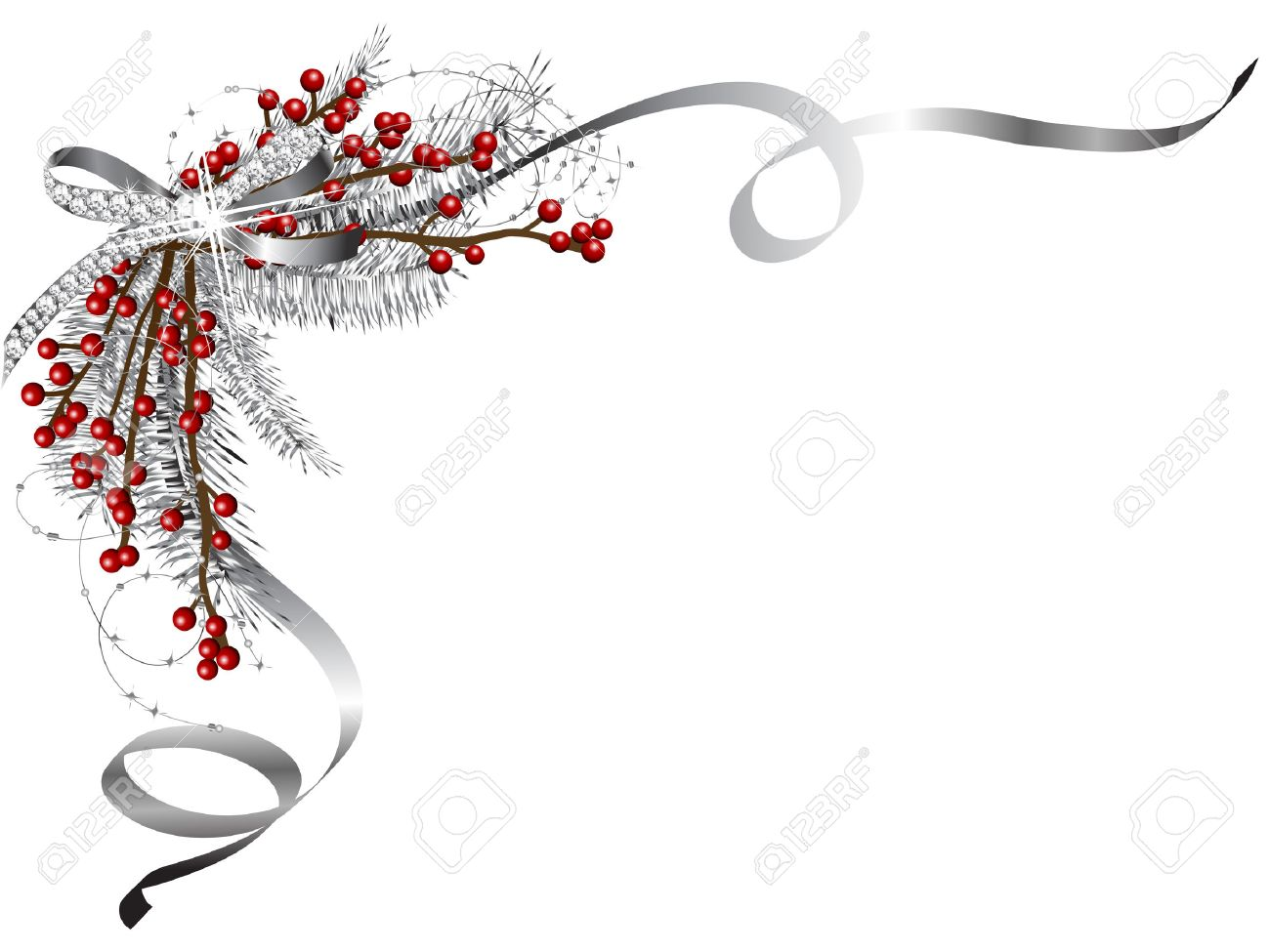 Christmas Garland Vector. Winter Holidays Vector Clip Art On.. Royalty Free  Cliparts, Vectors, And Stock Illustration. Image 65359570.