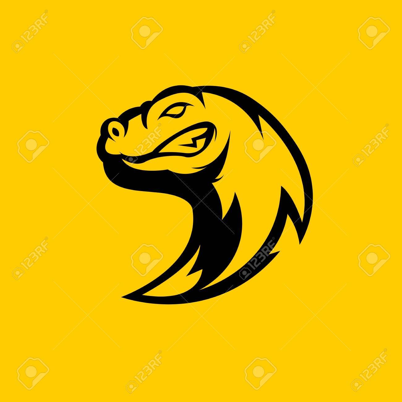 comienzo Problema Goteo  Komodo Dragon Mascot Logo Silhouette Version. Comodo Logo In.. Royalty Free  Cliparts, Vectors, And Stock Illustration. Image 147435204.