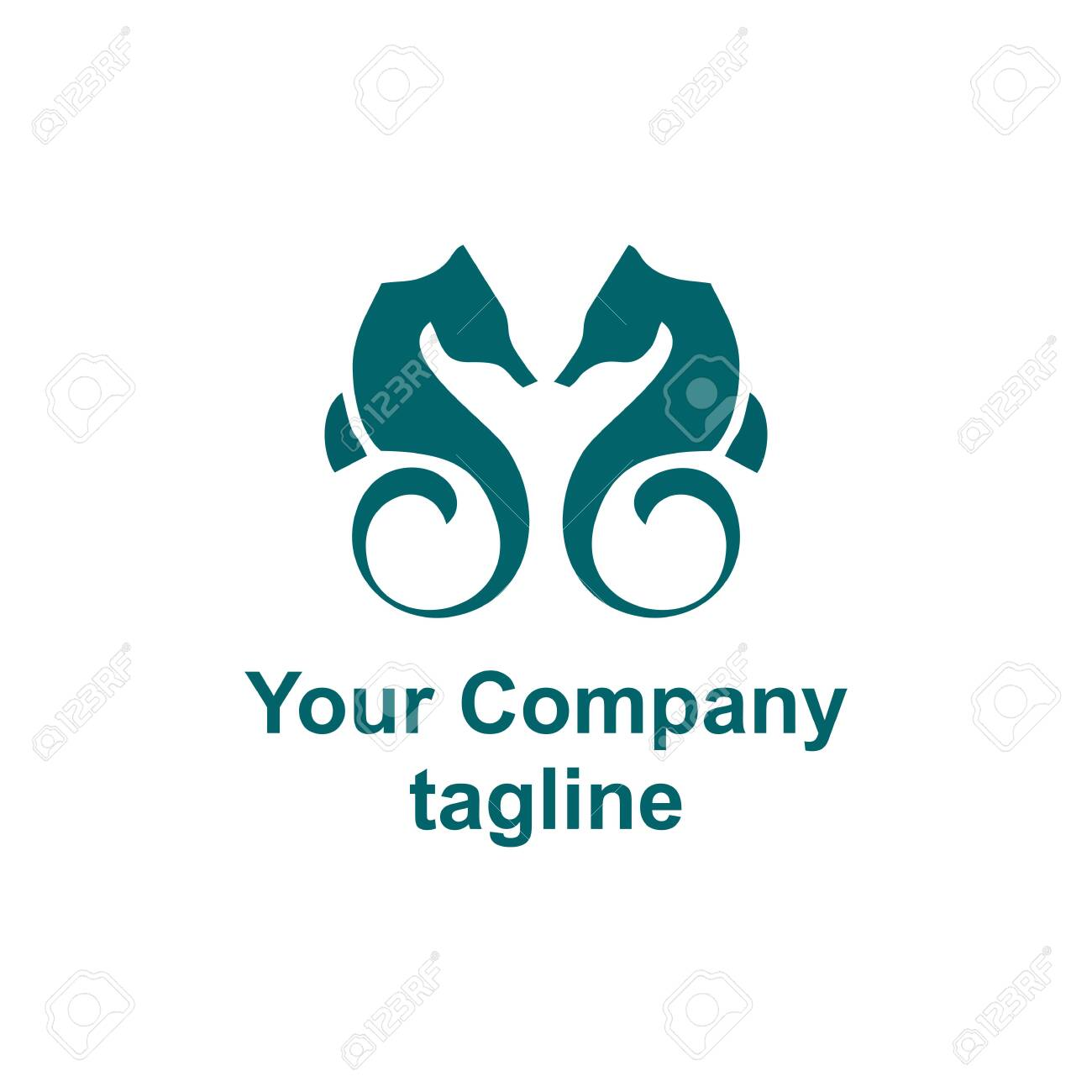 Simple Couple Sea Horse Company Vector Logo Royalty Free Cliparts Vectors And Stock Illustration Image 128648984