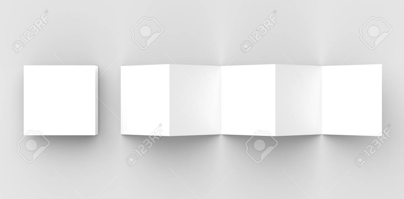 10 page leaflet 5 panel accordion fold square brochure mock stock