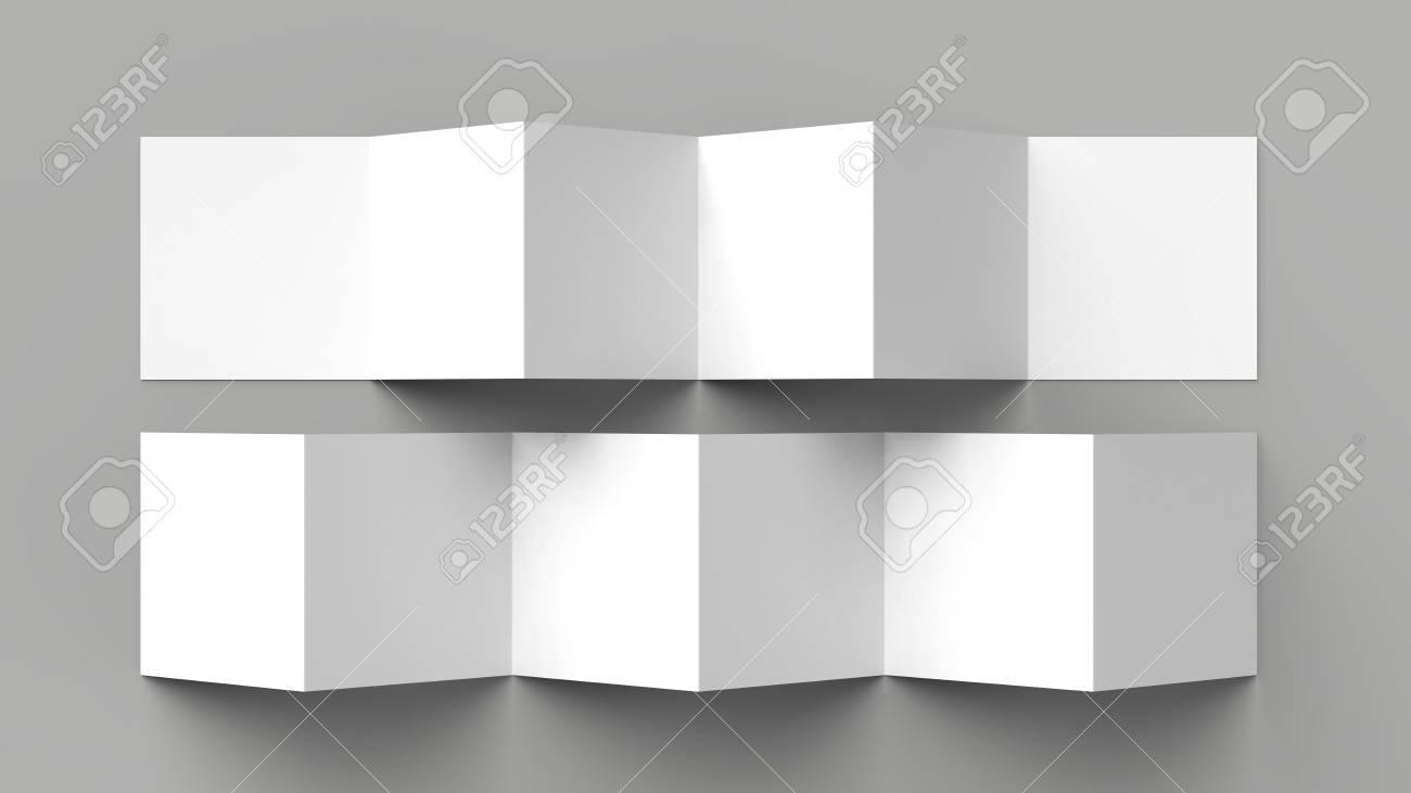 12 page leaflet 6 panel accordion fold z fold square brochure
