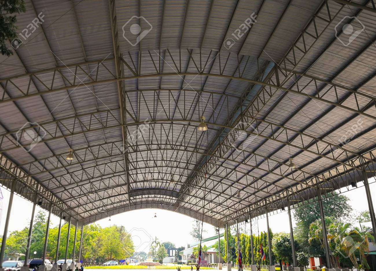 Curved Roof Steel Structure Building Design For Open Space Utilizing Stock Photo Picture And Royalty Free Image Image 98418269