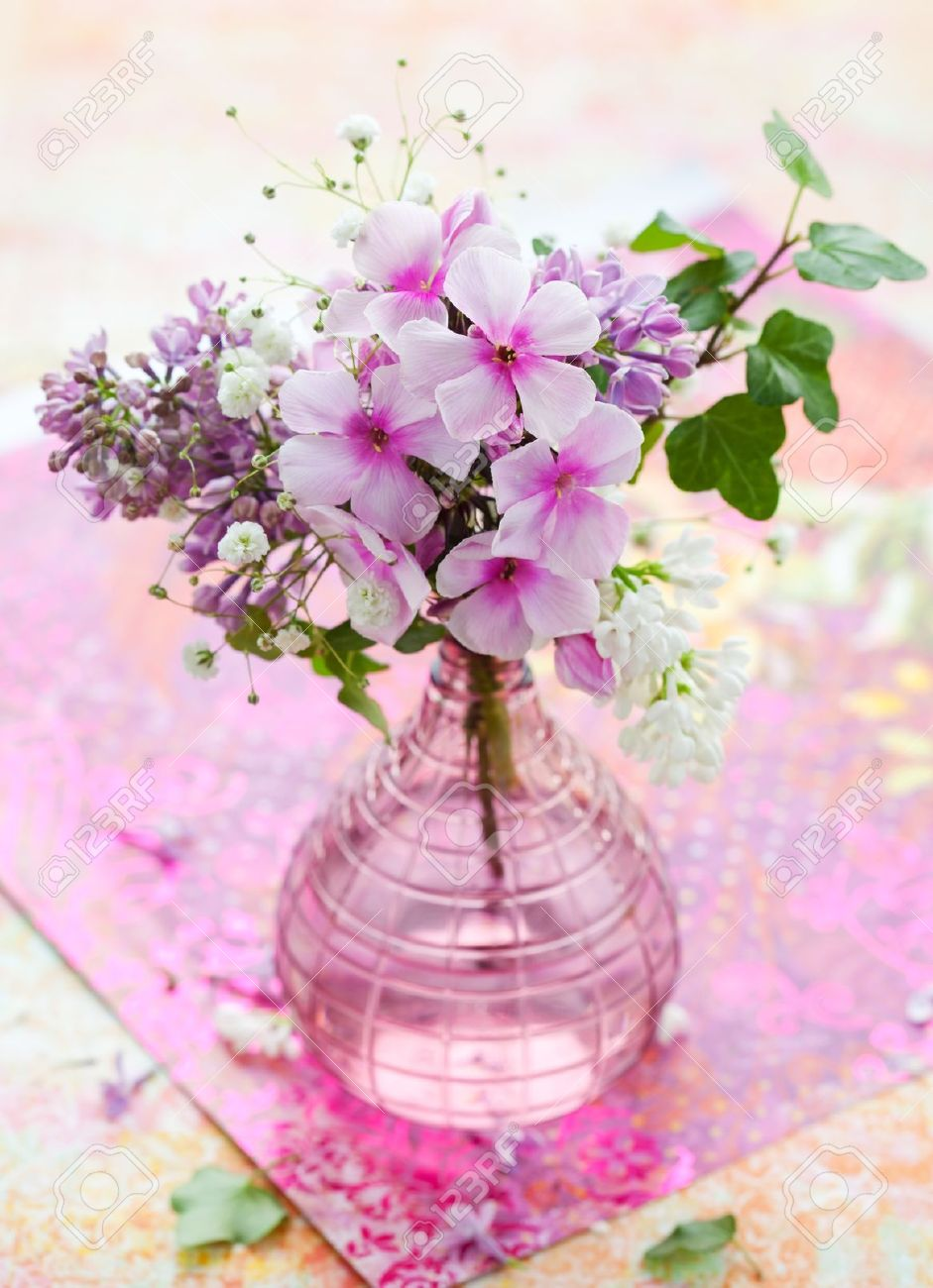 Beautiful Spring Flowers In A Vase Stock Photo Picture And Royalty