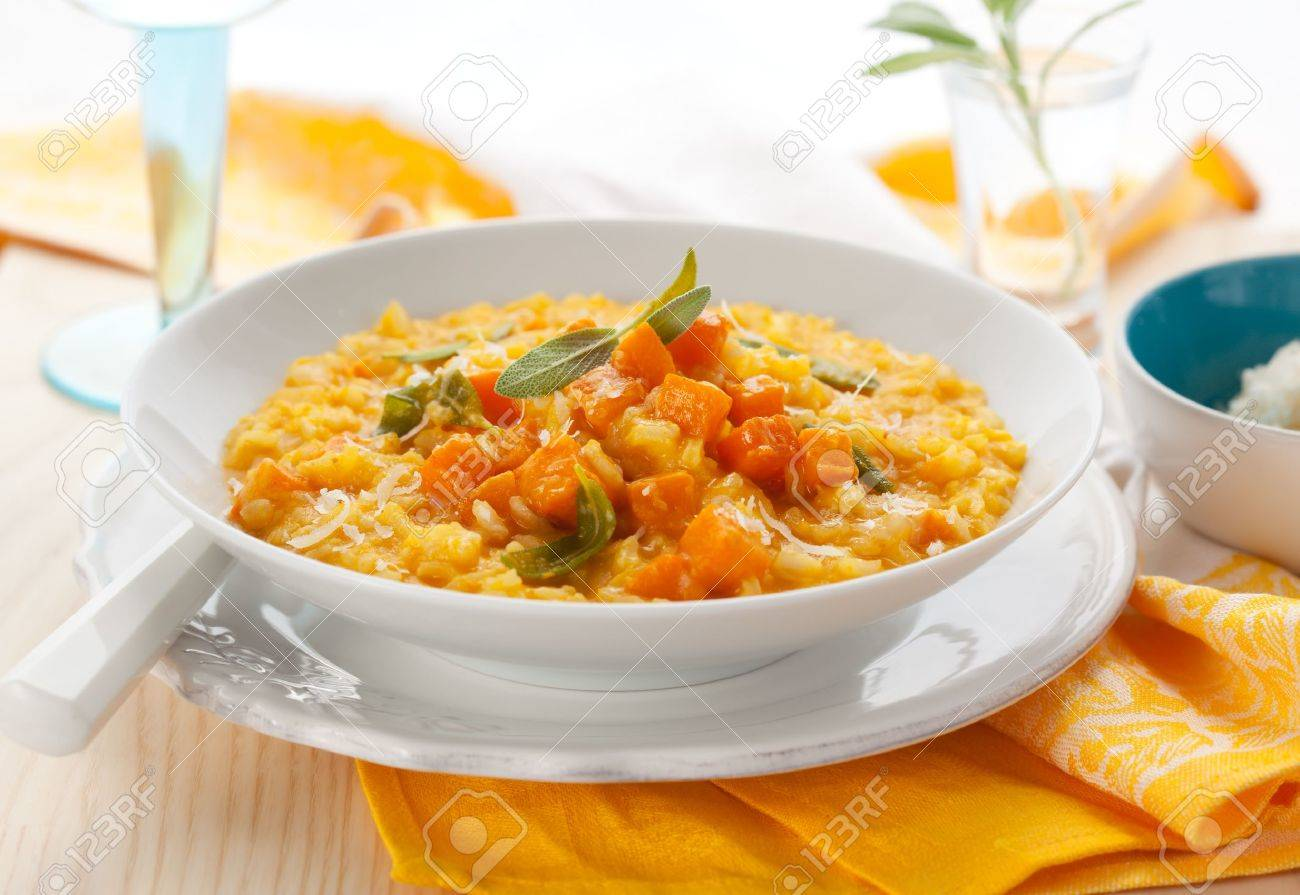 pumpkin risotto with sage Stock Photo - 10065965