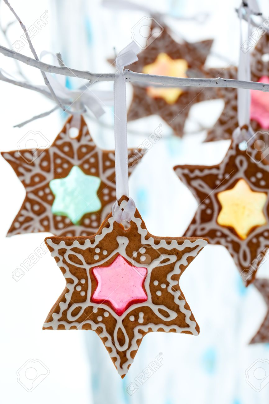 Stained Glass Window Gingerbread Cookies For Christmas