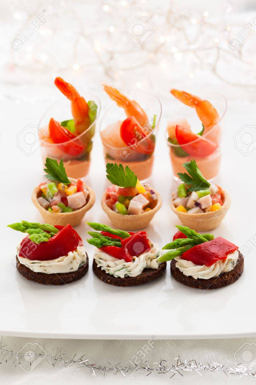 Holiday Appetizers On The Platter Stock Photo Picture And Royalty Free Image Image 16101038