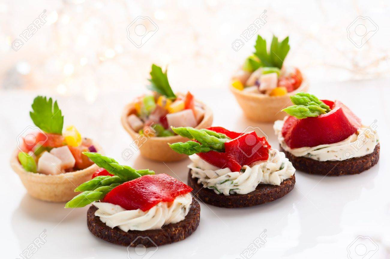 Holiday Appetizers On The Platter Stock Photo Picture And Royalty Free Image Image 16101028