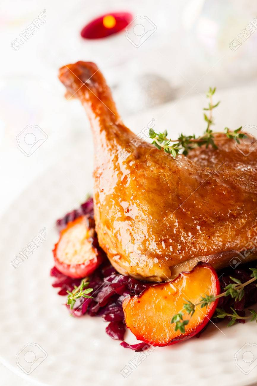 Ente Weihnachten.Stock Photo