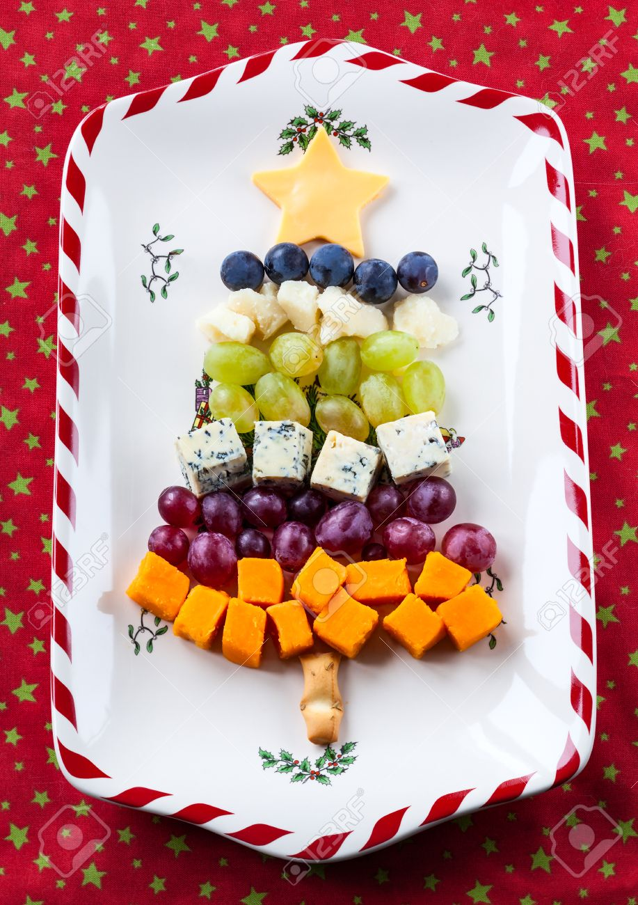 Christmas Tree Cheese Platter Stock Photo, Picture And Royalty ...