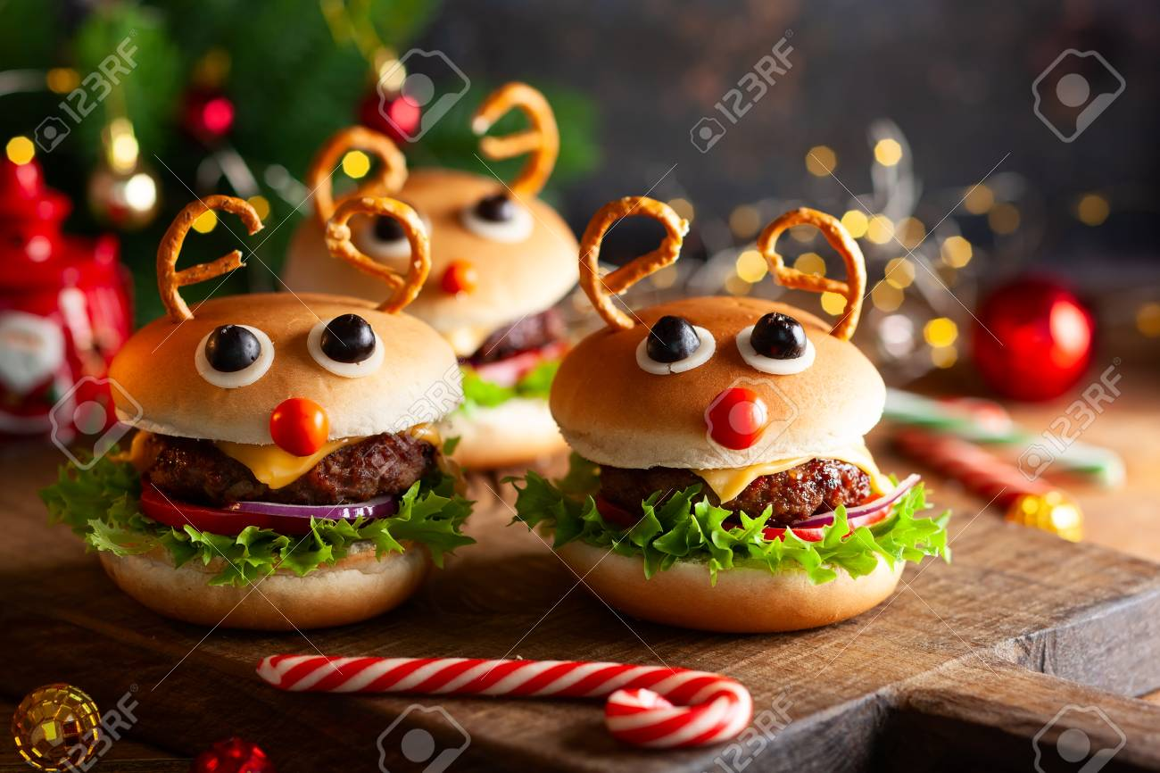Children Christmas Party Ideas.Christmas Party Idea Kids Christmas Burger Reindeer Sloppy Joe