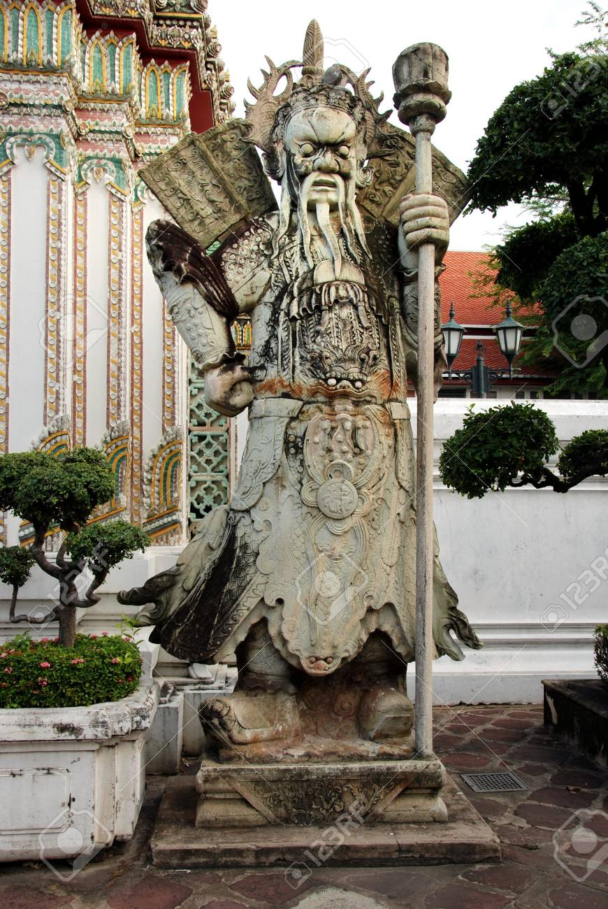 Giant Statue at Wat Pra Kaew Thailand Stock Photo - 7868556