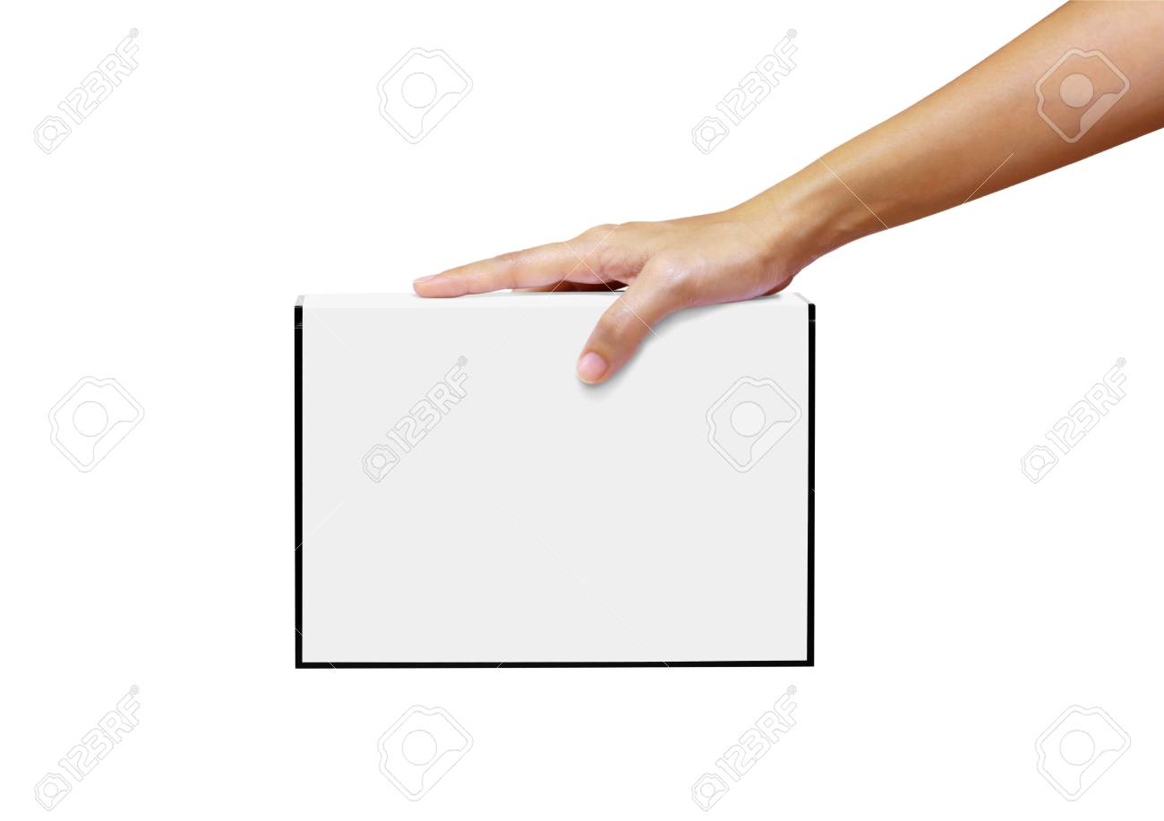 white book in the hand isolated on white Stock Photo - 10016963