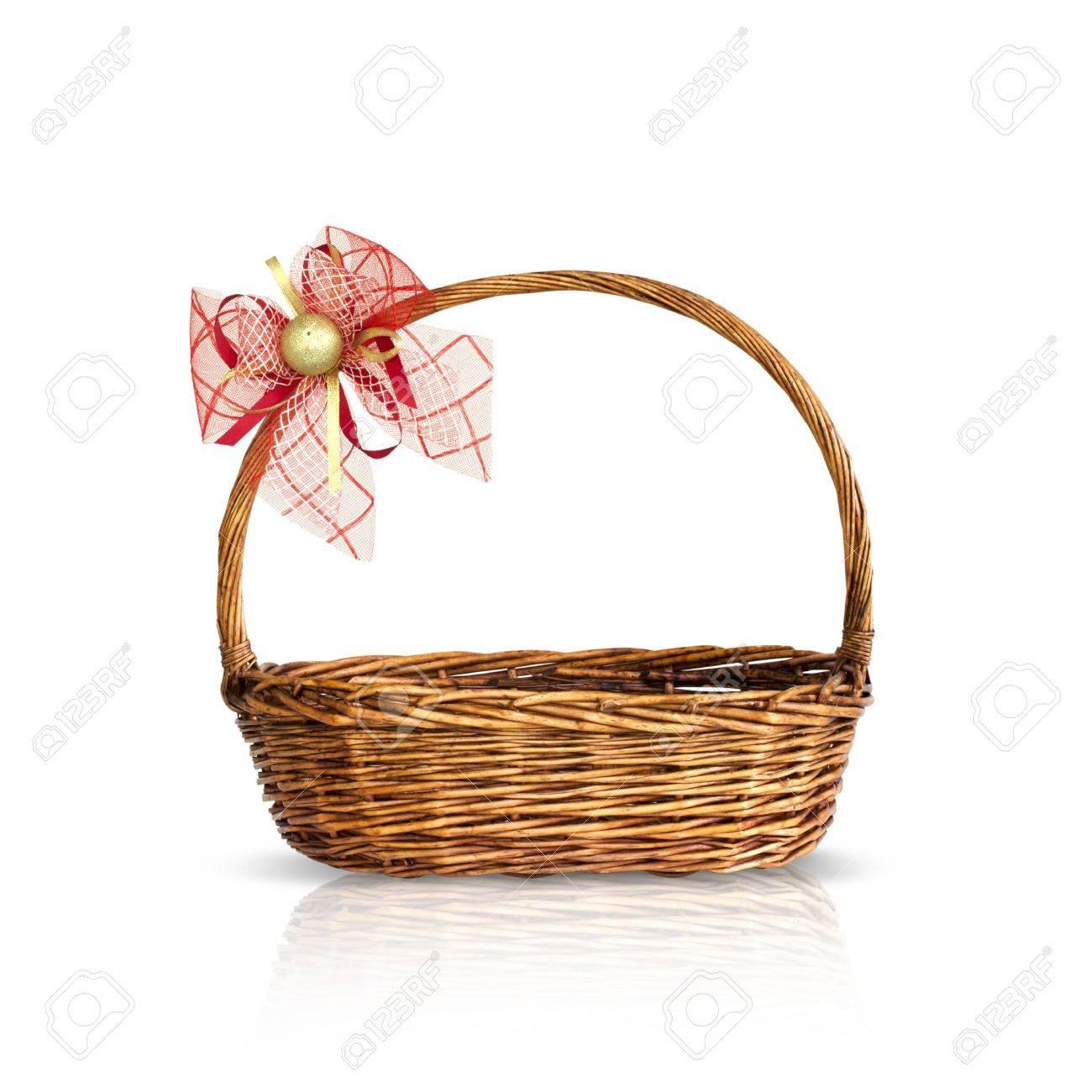 Bamboo basket isolated Stock Photo - 10016995