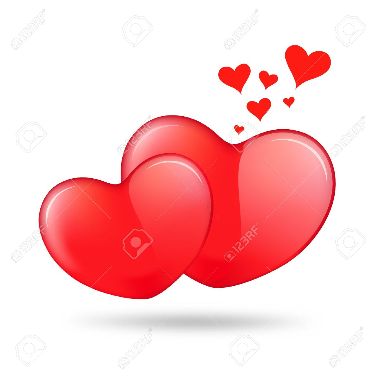 Two red heart valentine Stock Photo - 11771824