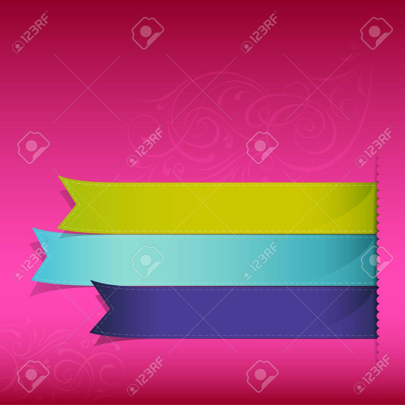 Show colorful ribbon promotional products design, vector illustration Stock Vector - 14615690