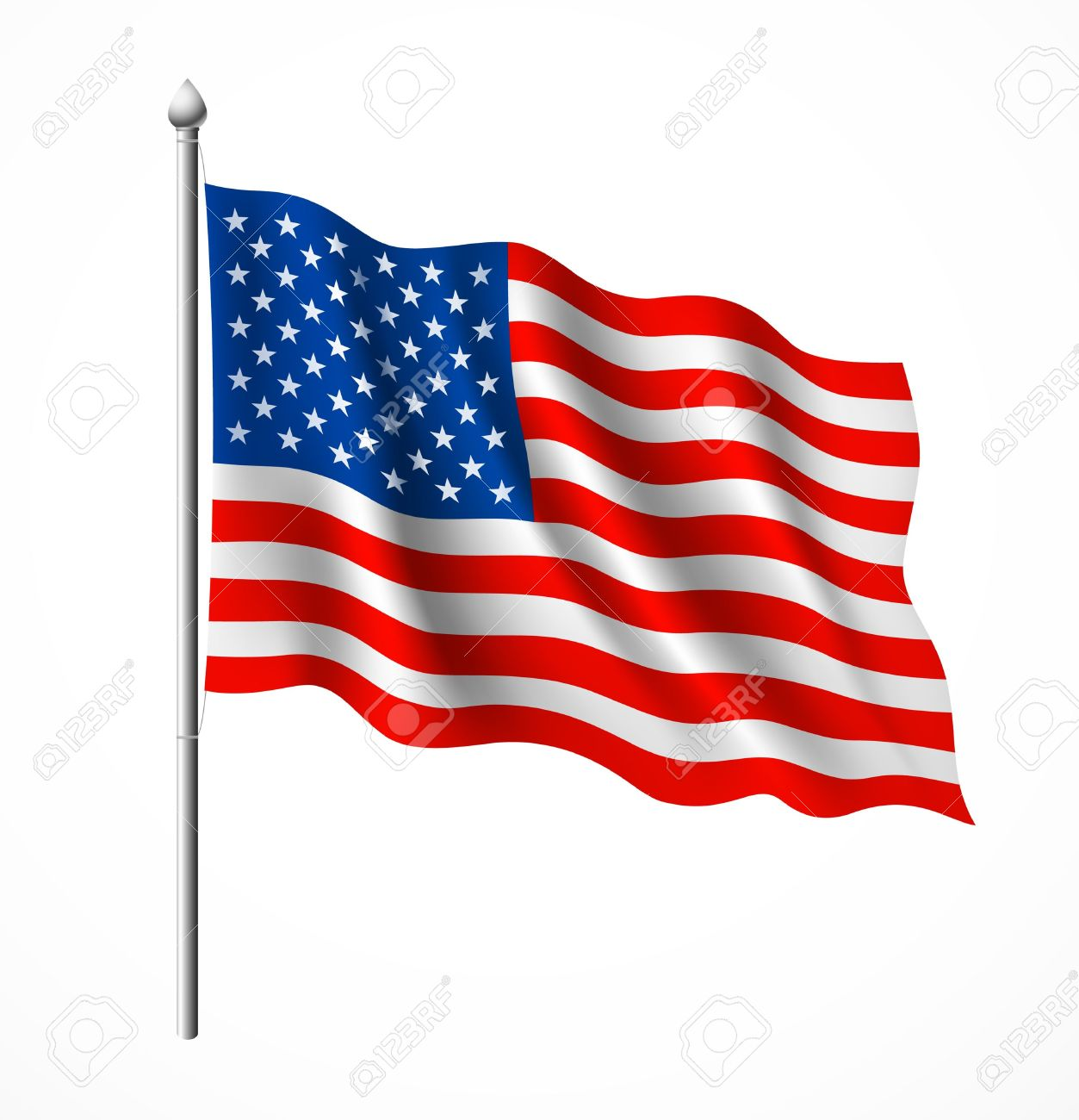 Flag of American, vector illustration Stock Vector - 14615695