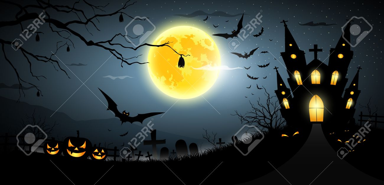 Happy Halloween Party Scary Background Royalty Free Cliparts ...