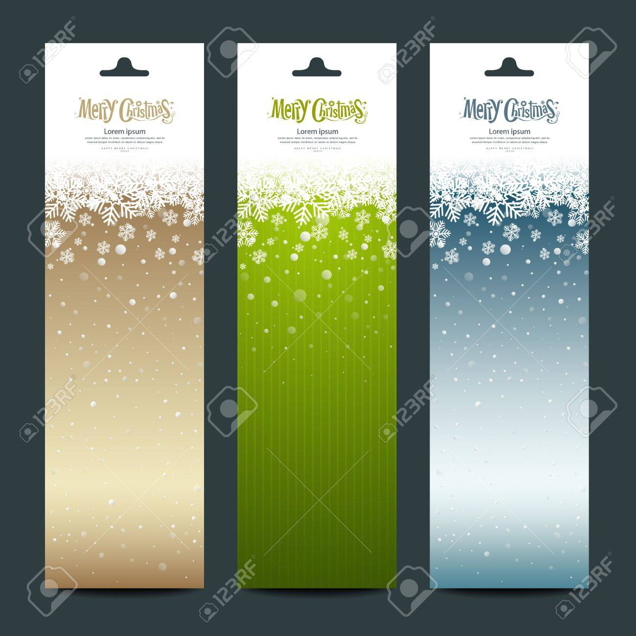 Merry Christmas banner vertical background, vector Stock Vector - 16164109
