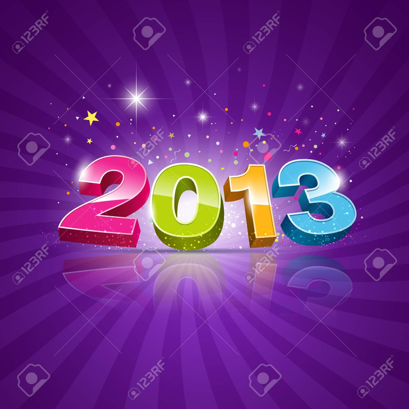 2013 Message colorful background, vector illustration Stock Vector - 16260429