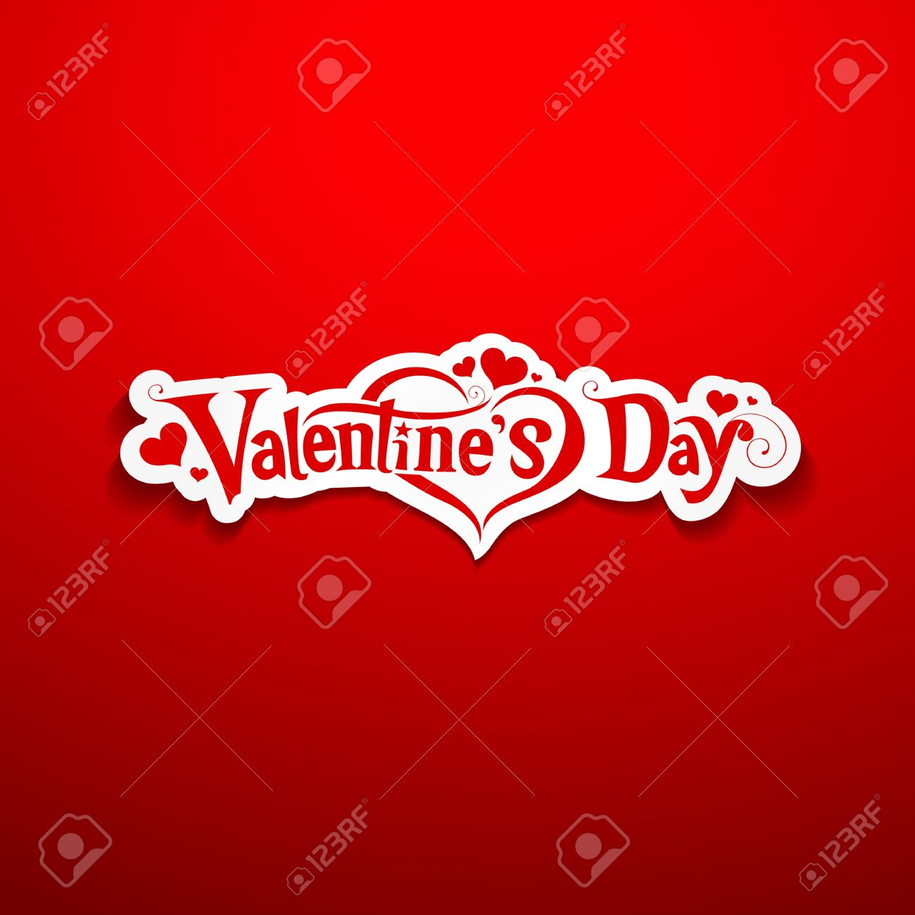 Happy Valentine Day Lettering Design Royalty Free Cliparts Vectors