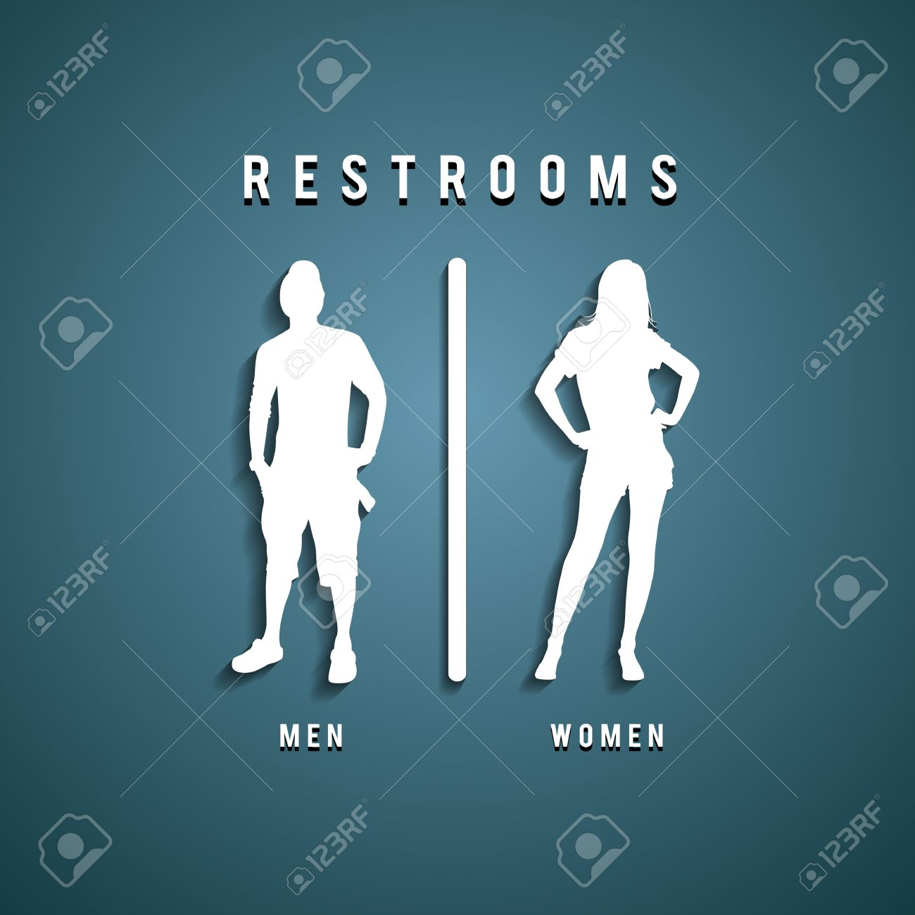 Restroom Signs illustration Stock Vector   20682829. Restroom Signs Illustration Royalty Free Cliparts  Vectors  And