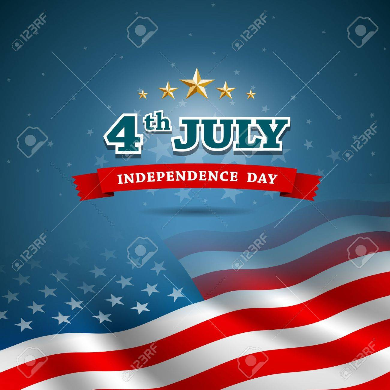 Independence day Flag of American design background, vector Stock Vector - 21424961