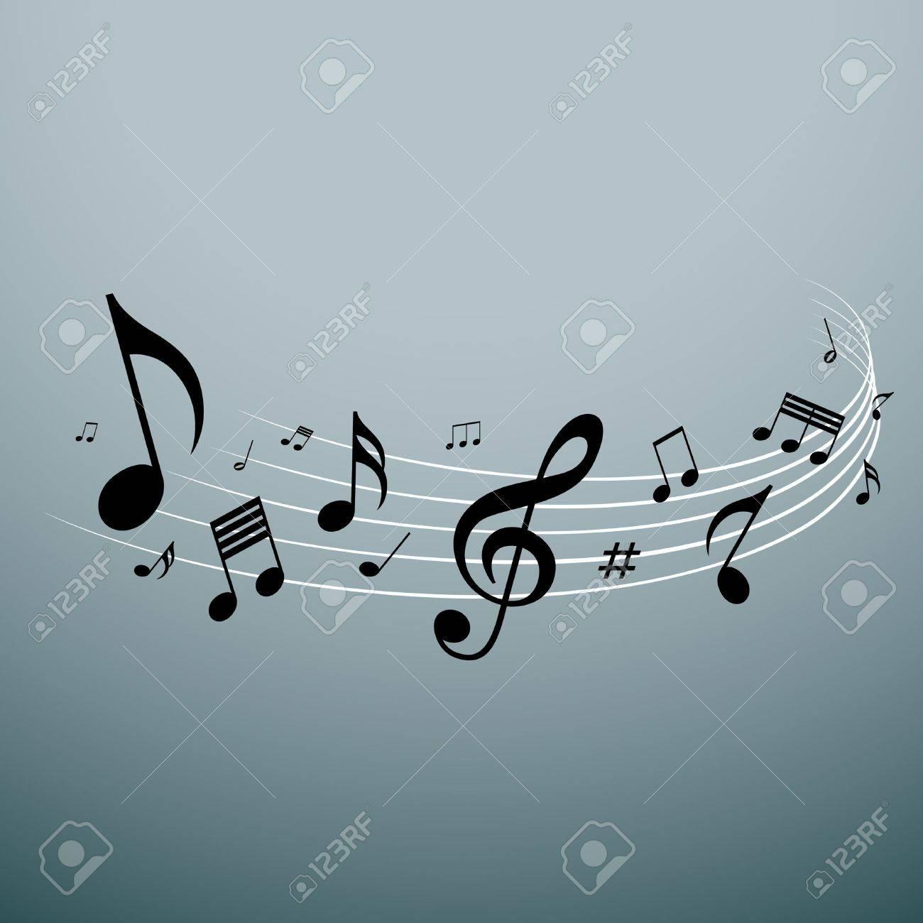 Musical notes design, vector illustration Stock Vector - 21989824