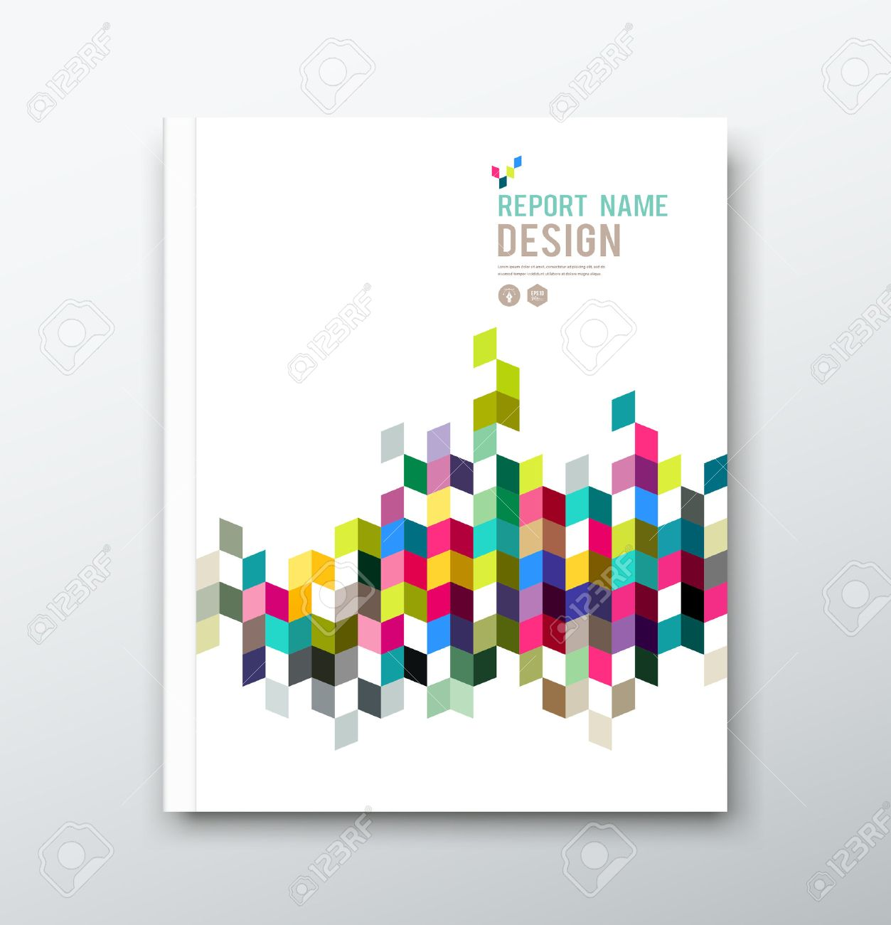 cover annual report and brochure colorful geometric design cover annual report and brochure colorful geometric design background stock vector 27888250