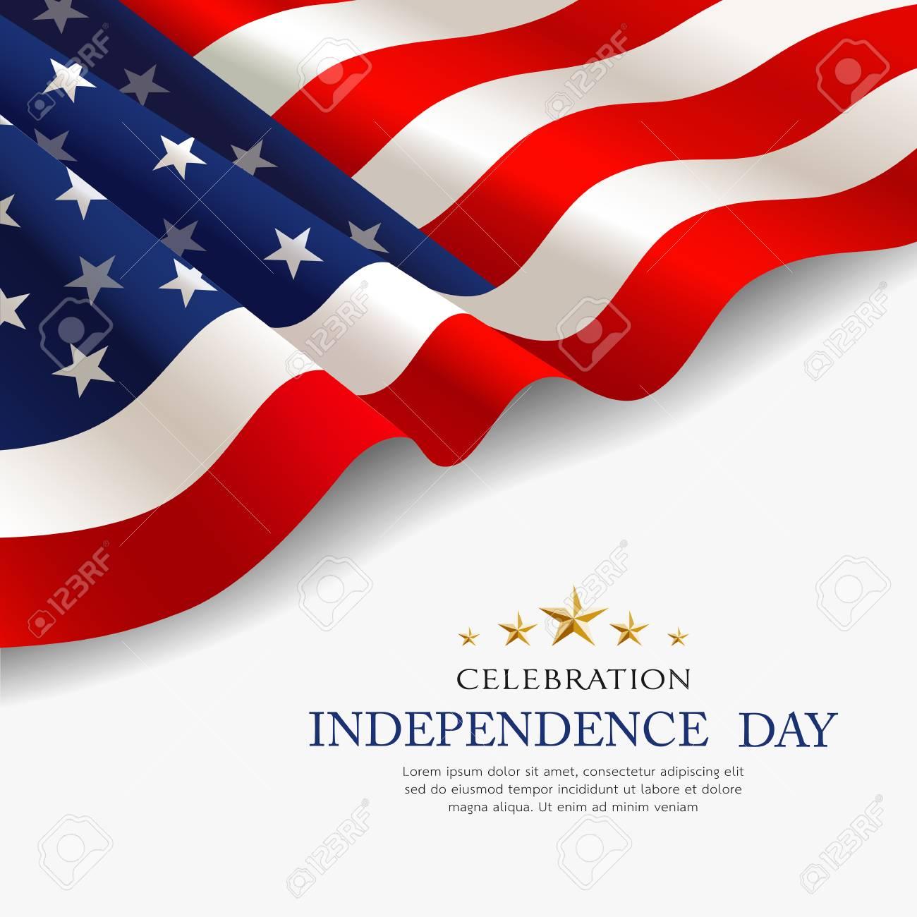 Celebration flag of america independence day fabric design - 125457574