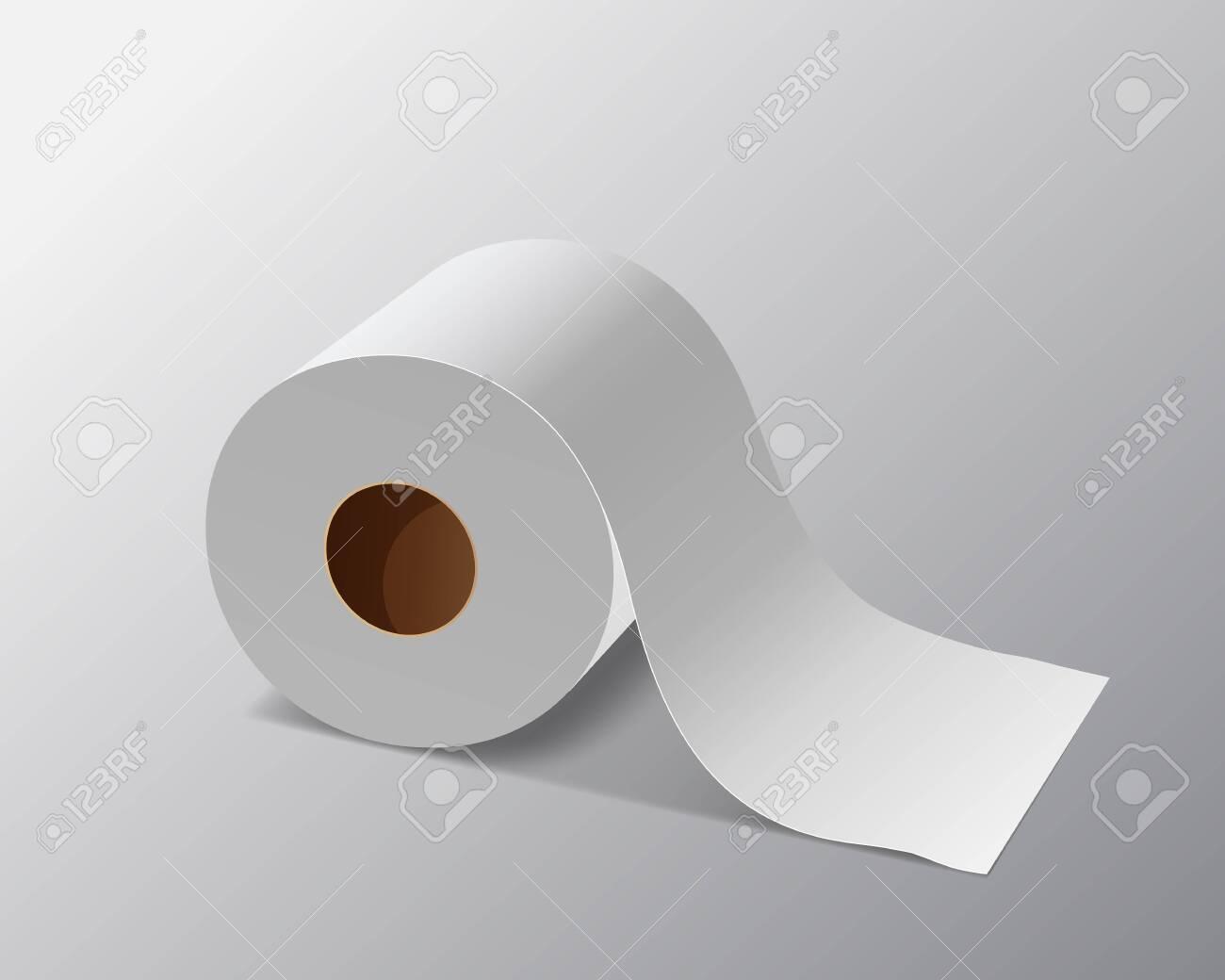 Vector Tissue paper roll, design on gray background, illustration - 147640527