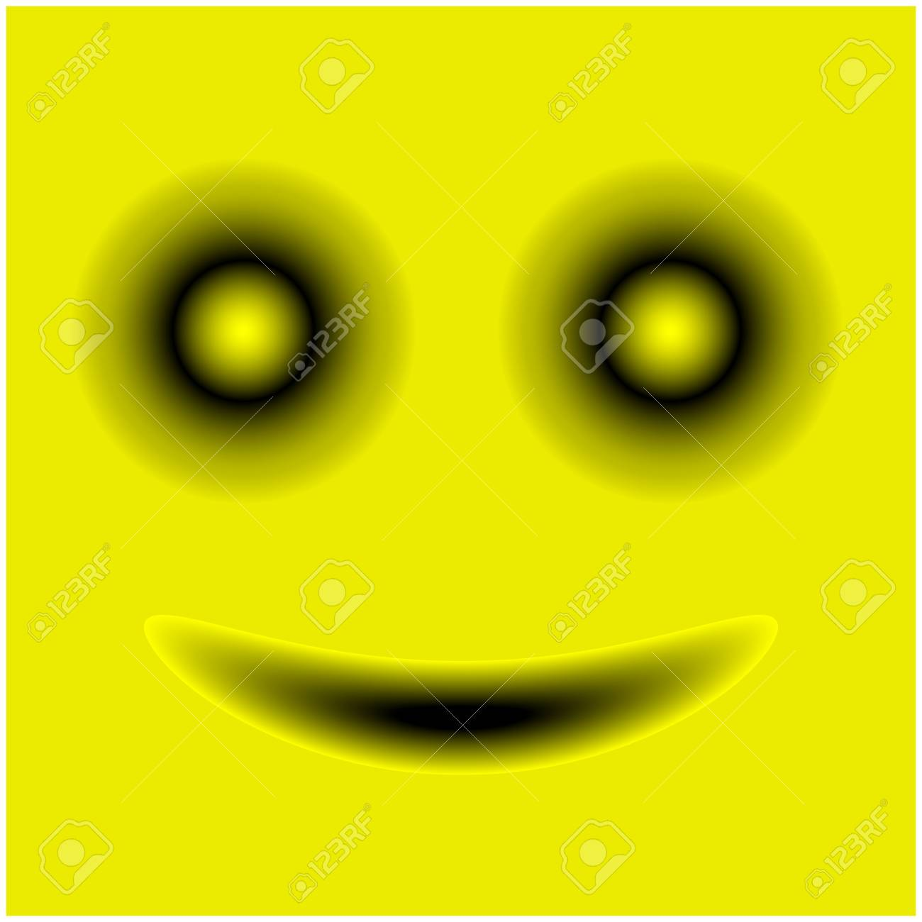 Smiley Face Stock Vector Template Design