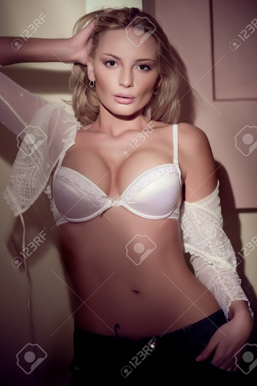 bac9743ef Stock Photo - The young beautiful blond woman portrait