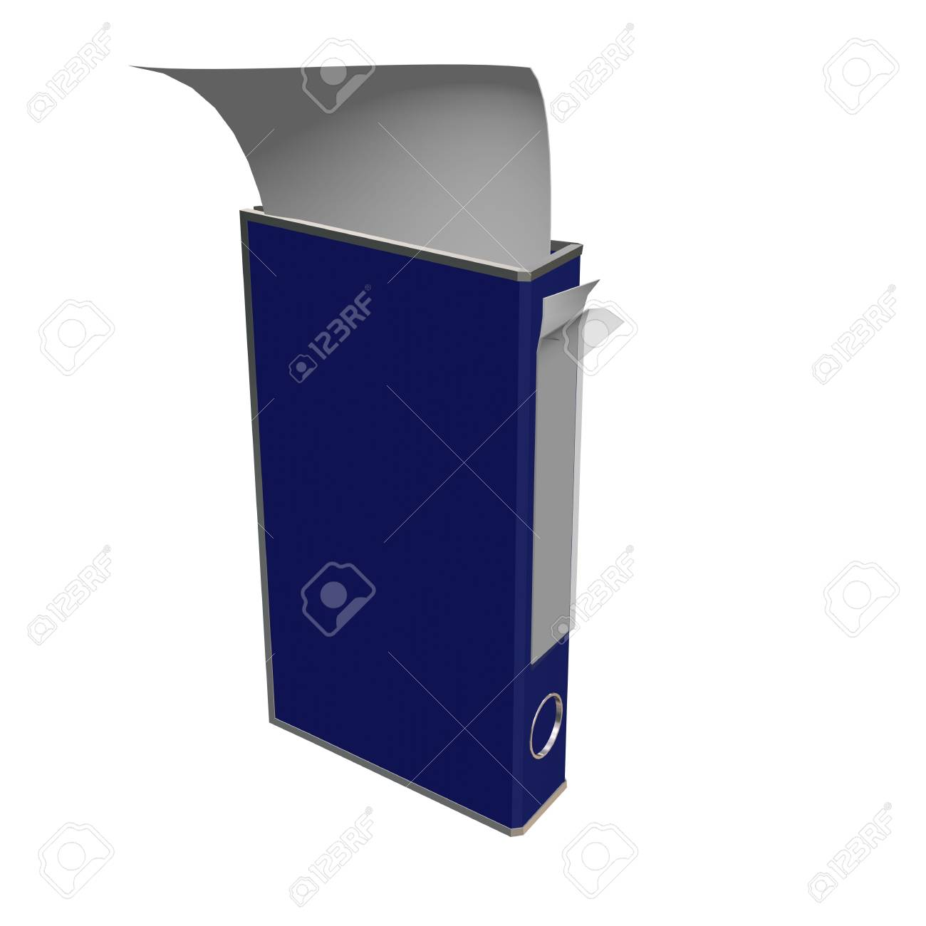 Folder with a paper on a white background. 3D image. Stock Photo - 2634824