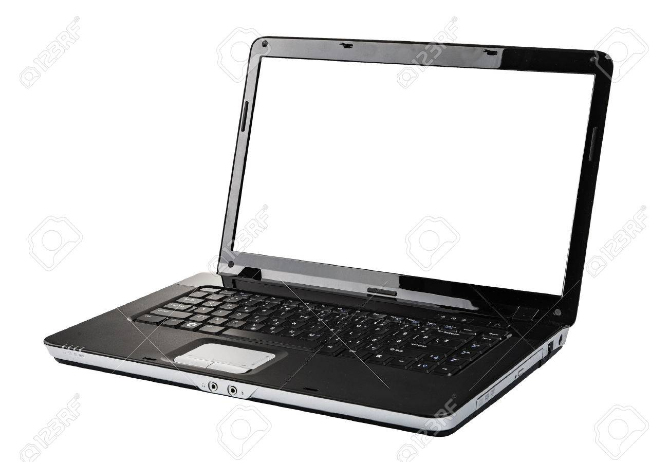 Open laptop computer isolated on white Stock Photo - 40235322