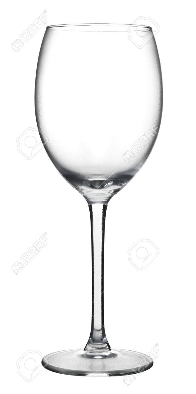 A empty wine glass isolated on a white background Stock Photo - 40620183