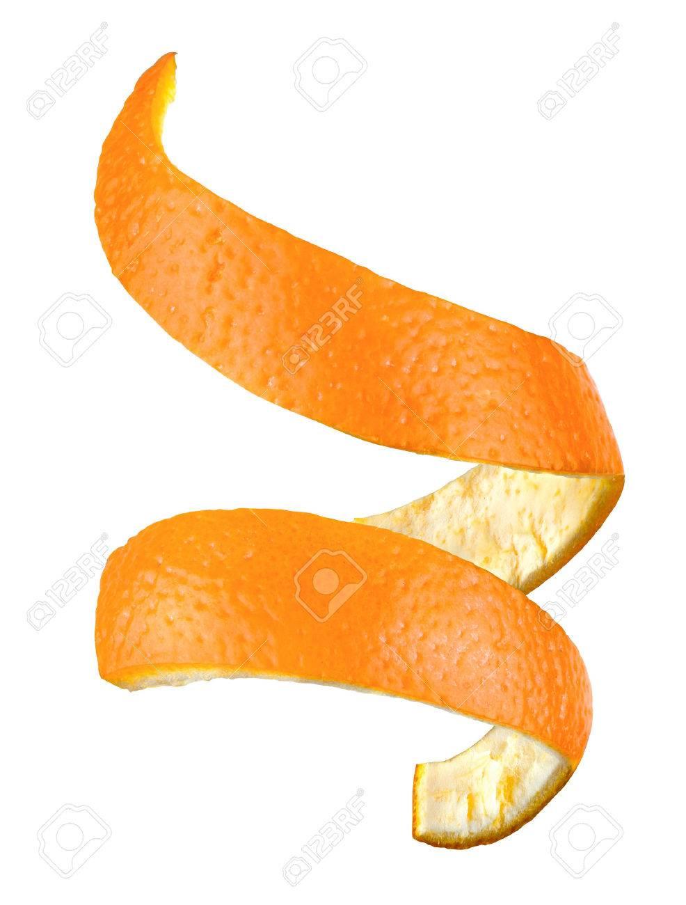orange peel isolated Stock Photo - 40774723