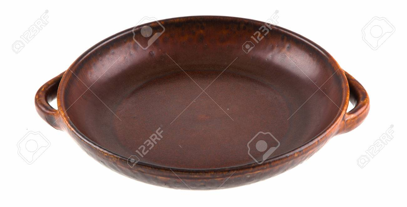 Traditional European brown clay dish Stock Photo - 55145201
