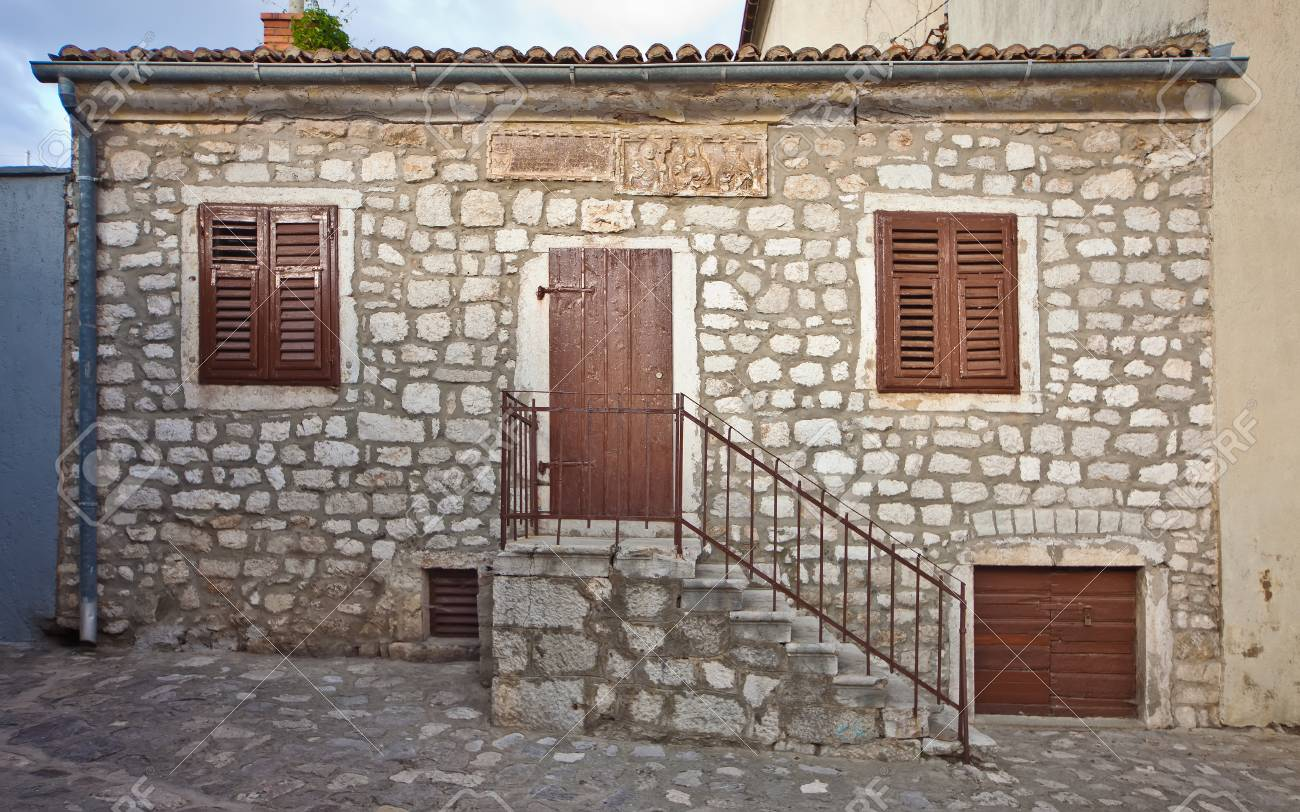 Old mediterranean stone house, Croatia Stock Photo - 75963487