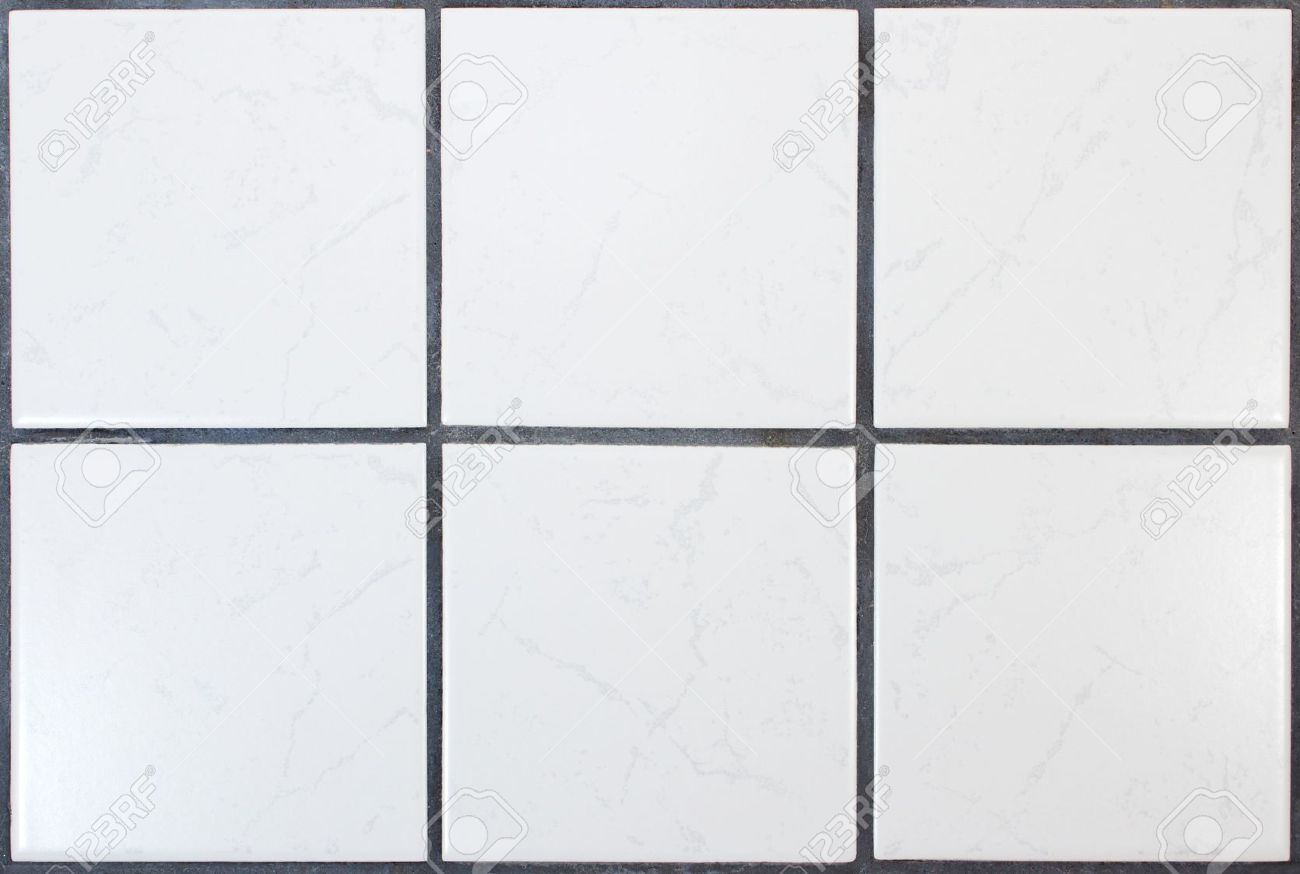 White Kitchen Tile Six White Kitchen Tiles With Dark Joints Stock Photo Picture And