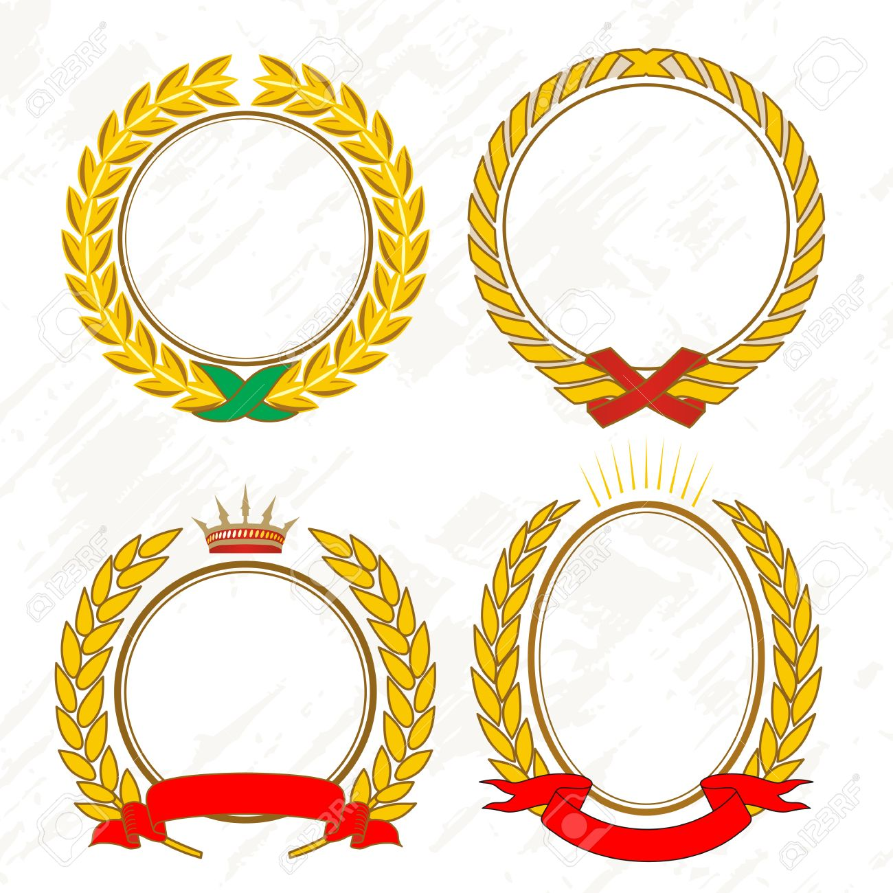 Gold Laurel Wreath Royalty Free Cliparts, Vectors, And Stock ...