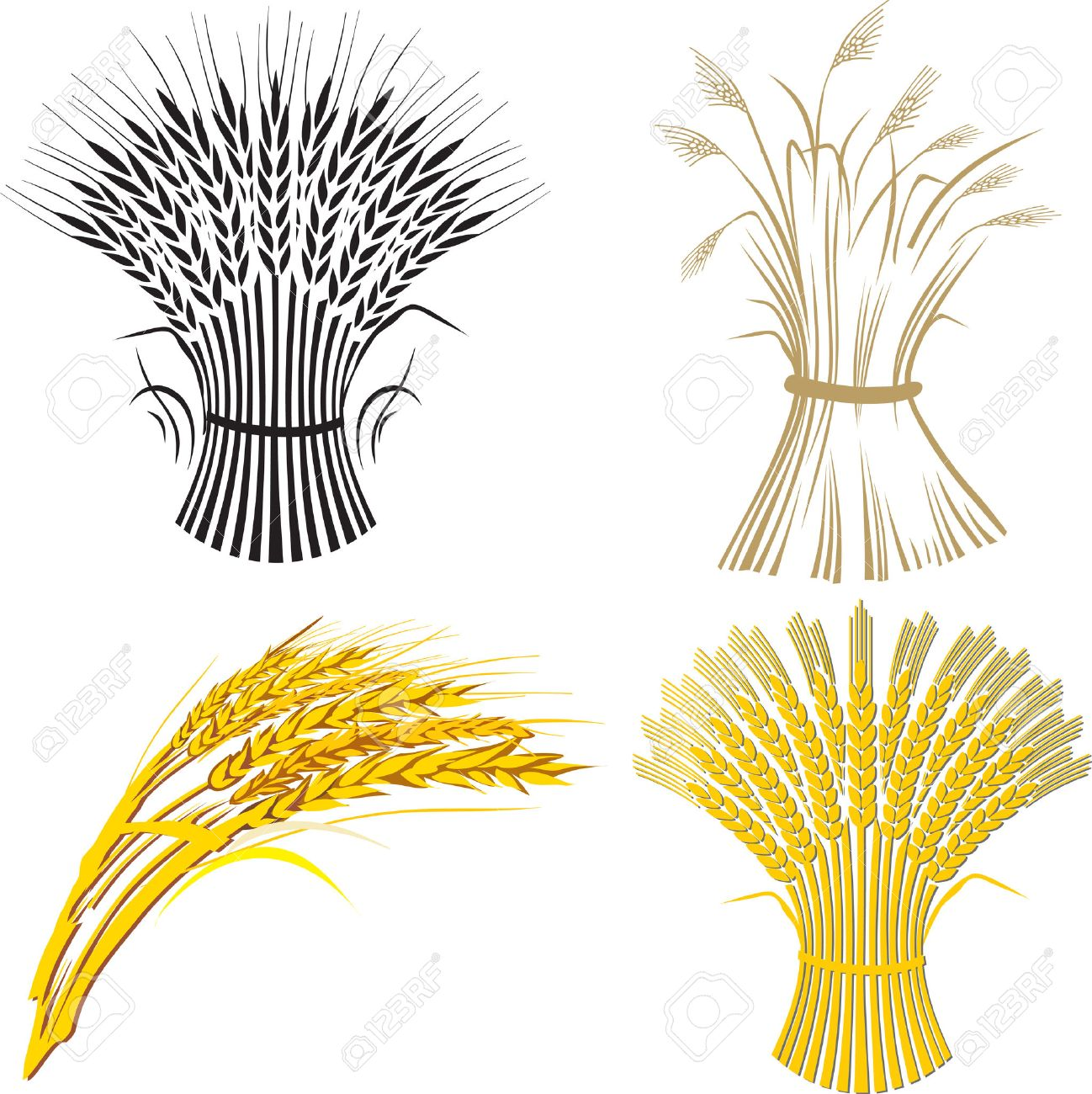 four wheat sheaf Stock Vector - 6057366