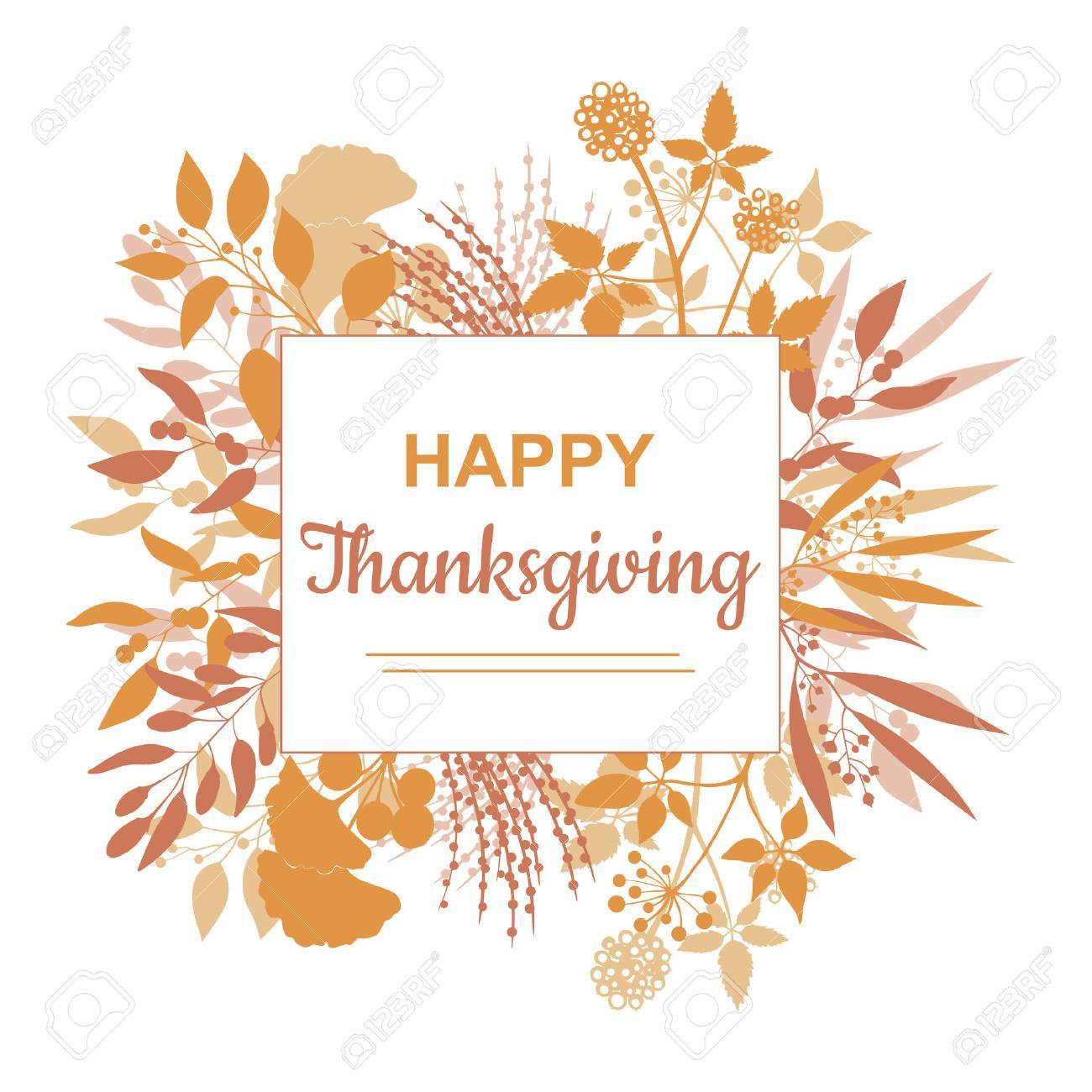 flat design style happy thanksgiving card template royalty free