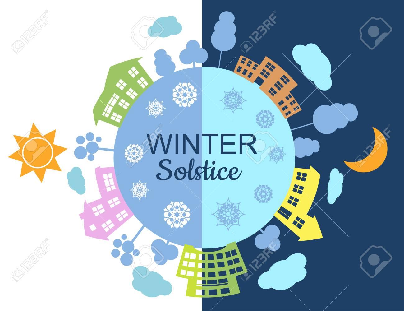 Winter Solstice illustration - 103742575