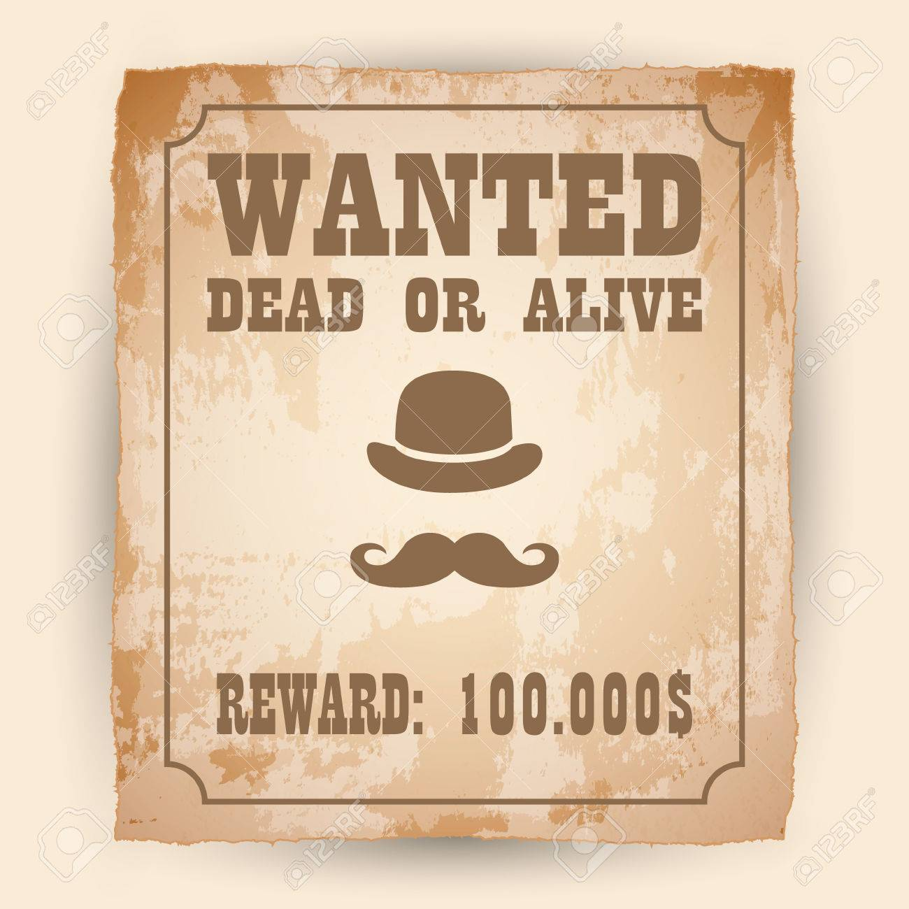 a old wanted posters vector wanted poster image royalty free