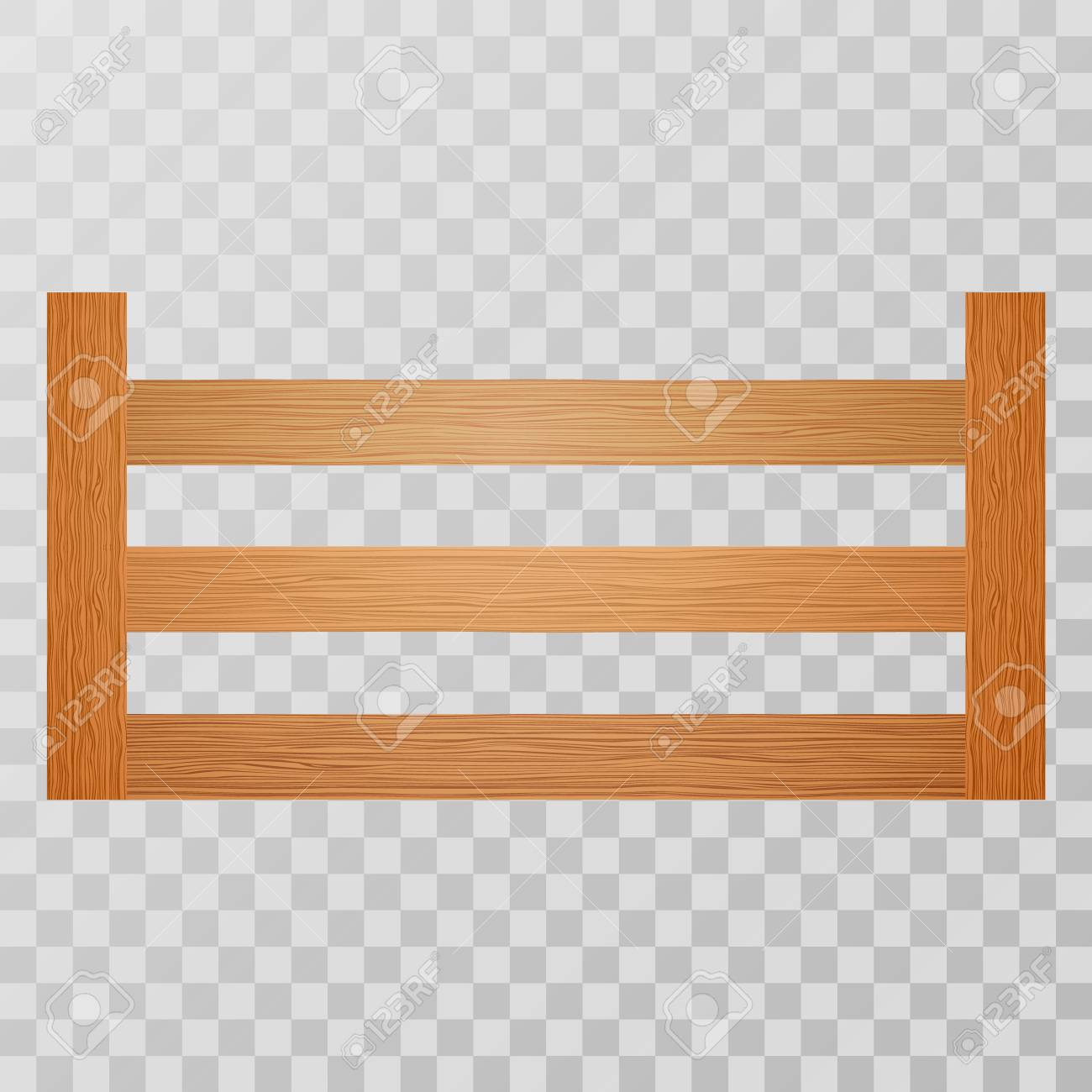 Wooden Crates For Fruits And Vegetables On Transparent Background