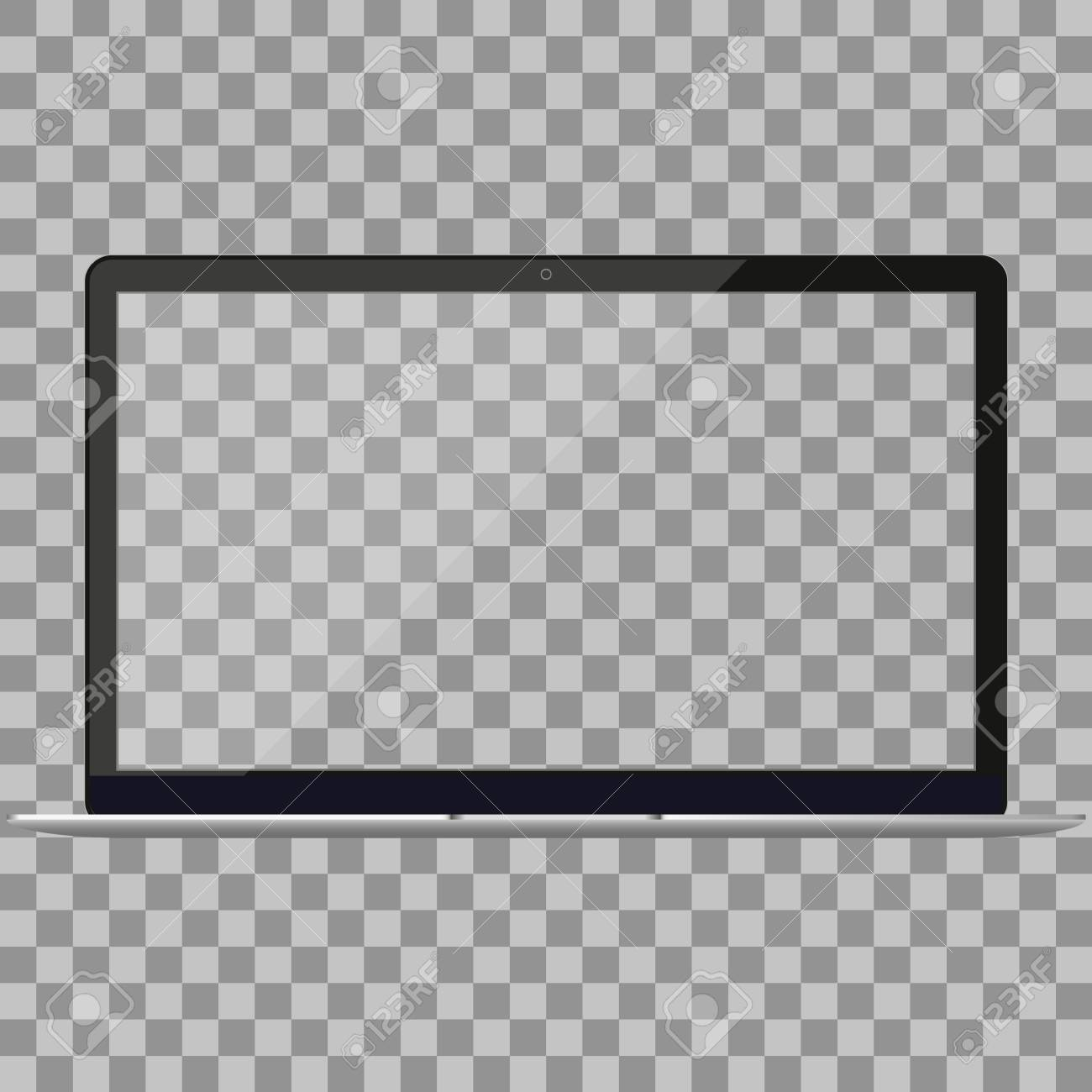 Laptop in Macbook Air style mockup with blank screen - front
