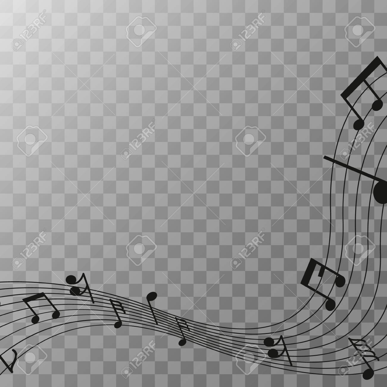 Music Note On Transparent Background Royalty Free Cliparts Vectors