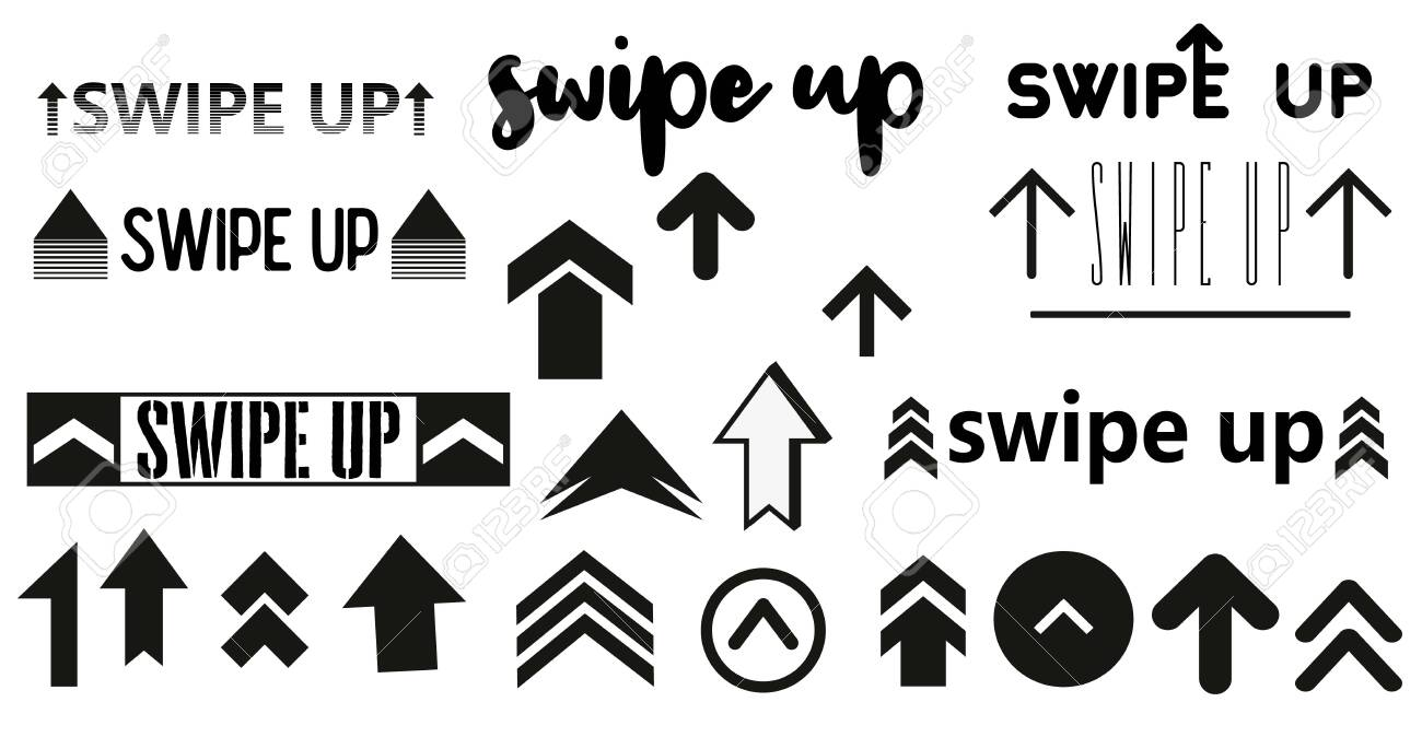 Vector Swipe Up Icon Set Isolated On Background For Stories Design Royalty Free Cliparts Vectors And Stock Illustration Image 122492096