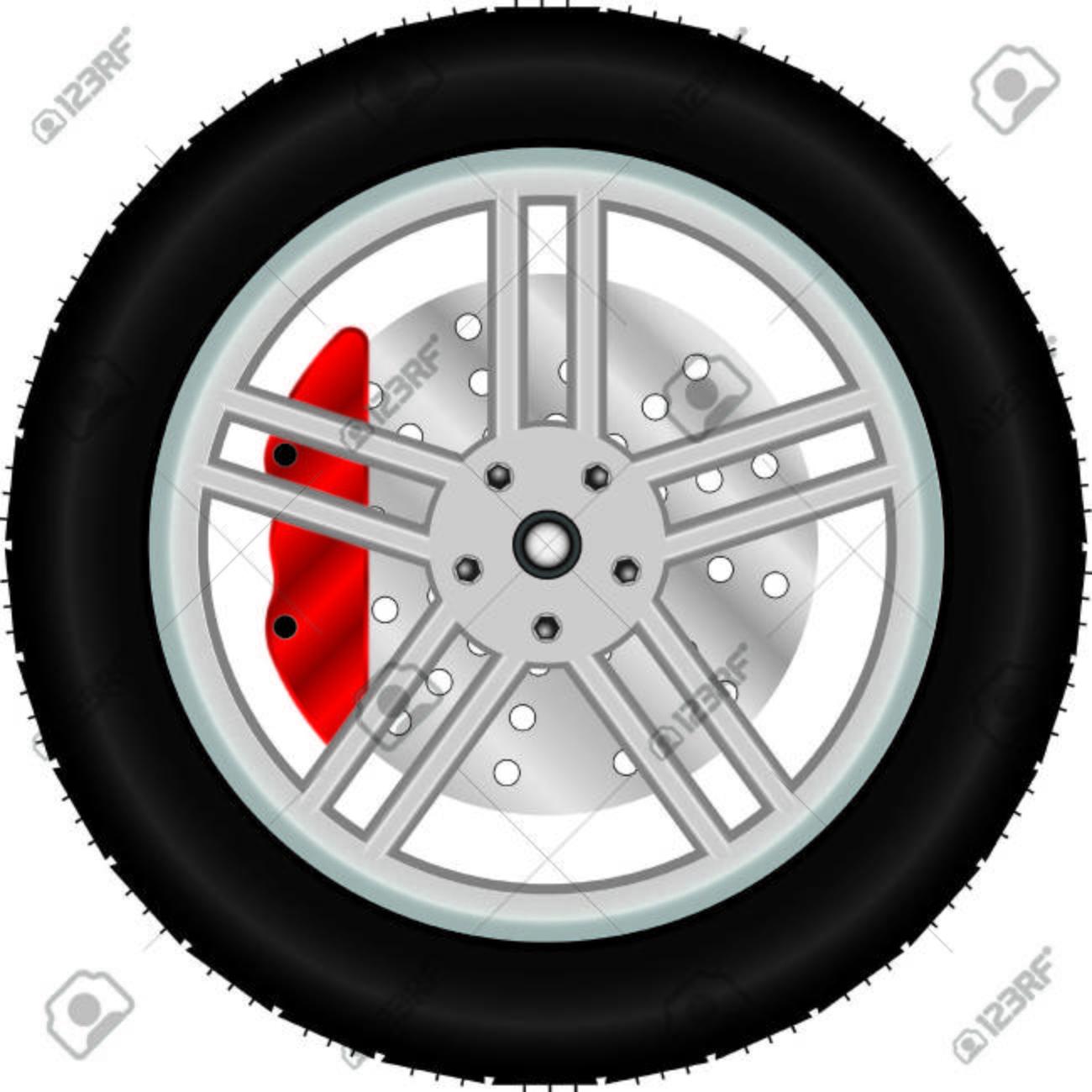 Car wheel with brake disc - 36364515