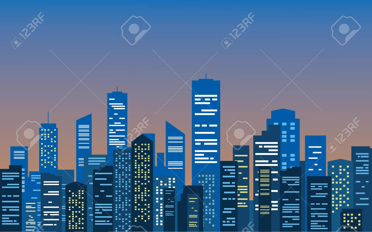 City at the morning - 38943246